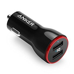 Anker 24W Dual USB Car Charger PowerDrive 2 for Apple iPhone 6s / 6s Plus, iPad Air 2, iPad Pro, iPad mini