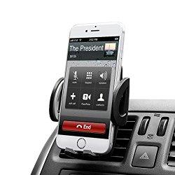 Budget&Good ® Universal Smartphones Car Air Vent Mount Holder Cradle Compatible with iphone SE 6s 6 Plus 6 5s 5 4s 4 (Black)