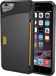 iPhone 6/6s Wallet Case – Vault Slim Wallet for iPhone 6/6s (4.7″) by Silk – Ultra Slim Protective Phone Cover (Midnight Black)
