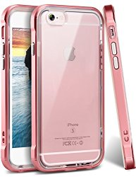 iPhone 6s Plus Case, Ansiwee® Reinforced Frame Crystal Highly Durable Shock-Absorption Flexible Soft Rubber TPU Bumper Hybrid Protective Case for Apple iPhone 6s/6 Plus 5.5inch (Rose Gold)
