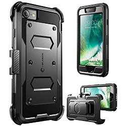 iPhone 7 Case, i-Blason ArmorBox Daul Layer [Full body] [Heavy Duty Protection ] Shock Reduction / Bumper Case with built in Screen Protector (Black)