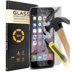 iPhone 7 Plus Tempered Glass,iPhone 7 Plus Screen Protector,Creativecase 1-Pack Claer Tempered Glass Screen Protector For iPhone 7 Plus 5.5 inch
