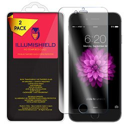 iPhone 7 Screen Protector [iPhone 6s 4.7″,iPhone 6] [2-Pack], iLLumiShield HD Clear Tempered Ballistic Glass Screen Protector for iPhone 7 9H Hardness Anti-Bubble Shield – Lifetime Warranty