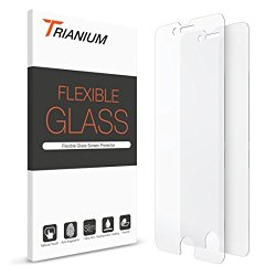 iPhone 7 Screen Protector, Trianium® (2 Pack) Soft Glass Film Screen Protectors 0.2mm [3D Touch Compatible] Work with iPhone 7 2016 and Protective Case [Lifetime Warranty]