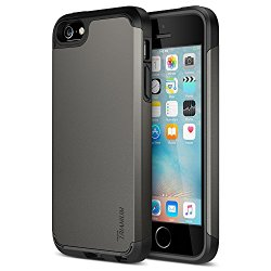 iPhone SE Case, Trianium [Protak Series] Ultra Protective Cases For Apple iPhone SE (2016) & iPhone 5S 5 [Gunmetal Gray] Dual Layer + Shock-Absorbing Hard Bumper Cover [Lifetime Warranty]