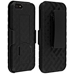Verizon Shell Holster Combo Case for Apple iPhone 5/5S/Se with Kick-Stand & Belt Clip