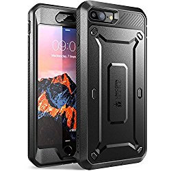 iPhone 7 Plus Case, SUPCASE Full-body Rugged Holster Case with Built-in Screen Protector for Apple iPhone 7 Plus (2016 Release), Unicorn Beetle PRO Series – Retail Package (Black/Black)