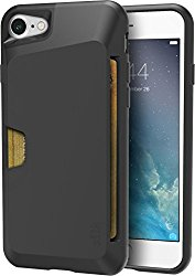 Silk iPhone 7 Wallet Case – Vault Slim Wallet for iPhone 7 [Protective Grip Card Case] – Black Onyx