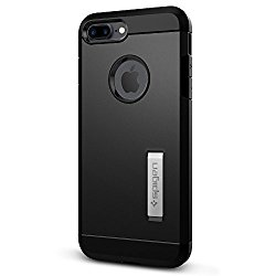 Spigen Tough Armor iPhone 7 Plus Case with Extreme Heavy Duty Protection and Air Cushion Technology with Kickstand for iPhone 7 Plus 2016 – Black
