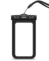 Universal Waterproof Case, JOTO CellPhone Dry Bag Pouch for Apple iPhone 6S 6,6S Plus,7 SE 5S, Samsung Galaxy S7, S6 Note 5 4, HTC LG Sony Nokia Motorola up to 6.0″ diagonal -Black