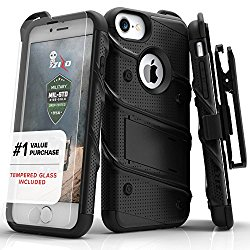 Zizo [Bolt Series]  'iPhone 7 Case, with [iPhone 7 Screen Protector] Kickstand [Military Grade Drop Tested] for the iPhone 7, iPhone 6, and iPhone 6s