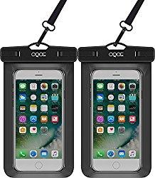 OQOE Universal Waterproof Case – Black (2 Pack)