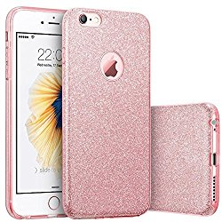 iPhone 6s Case, Imikoko™ Fashion Luxury Protective Hybrid Beauty Crystal Rhinestone Sparkle Glitter Hard Diamond Case Cover For iPhone 6s/6 (3-Layer)