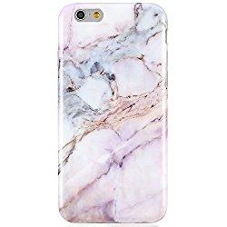 Pink iPhone 6 6S Case, Unique Marble Design,VIVIBIN Anti-Scratch &Fingerprint Shock Proof Thin TPU Case For iPhone 6 / 6s 4.7″ ,Marble Design,008-Pink#2
