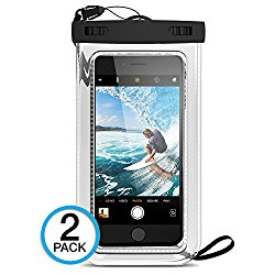 """(2Pack) Universal Waterproof Case, Maxboost Cellphone Dry Bag Pouch for iPhone 7 6s 6 Plus, SE 5s 5c 5, Galaxy s8 s7 s6 edge, Note 5 4, LG G6 G5,HTC 10,Sony Nokia up to 6.0"""" diagonal"""