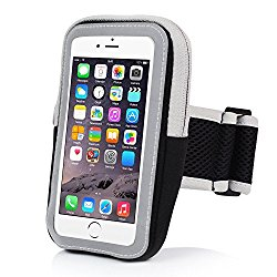 Sports Armband, INNLIFE Outdoor Water Resistant Running Armband Workout Gym Casual Arm Package with Key Holder For iphone7Plus 6Plus 6sPlus Samsung GalaxyS5 S6 S7 Edge (Black)