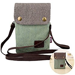 Girls Women Candy Green Mini Cute Crossbody Bag Wristlet Cellphone Wallet Purse Loose Change Pouch for iPhone 7 6S/6 Plus 5S 5C 4S Samsung Galaxy S7 S6 Edge S5 Clutch Handbag with Shoulder Strap