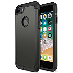 iPhone 8 Case, Trianium Protanium Apple iPhone 8 Case (2017) with Heavy Duty Protection / Shock Absorption / Dual Layer TPU + Rigid Back Armor / Scratch Resistant / Reinforced Corner Frame – Gunmetal