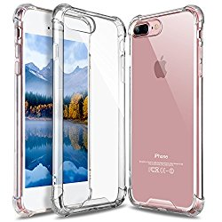 iPhone 7 Plus Case, iPhone 8 Plus Case, GeekZone Crystal Clear Case Hard Back Panel TPU Bumper Drop Protection Shock Absorption Technology Case for iPhone 7 Plus/iPhone 8 Plus (Clear)