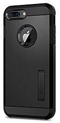 Spigen Tough Armor [2nd Generation] iPhone 8 Plus Case / iPhone 7 Plus Case with Kickstand Air Cushion Technology for Apple iPhone 8 Plus (2017) / iPhone 7 Plus (2016) – Black