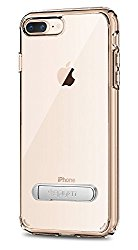 Spigen Ultra Hybrid S [2nd Generation] iPhone 8 Plus Case / iPhone 7 Plus Case with Air Cushion Technology and Kickstand for Apple iPhone 8 Plus (2017) / iPhone 7 Plus (2016) – Crystal Clear