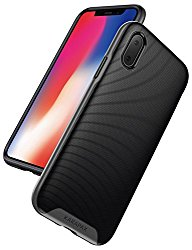 iPhone X Case, iPhone 10 Case, Anker KARAPAX Breeze Case with Military-Grade Certified Drop Protection [Support Wireless Charging] [Anti Scratch] With 3D Texture Protective Case for Apple iPhone X