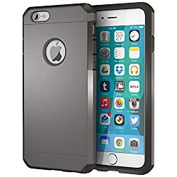 iPhone 6 Case, ImpactStrong Heavy Duty Dual Layer Extreme Protection Cover Heavy Duty Case for iPhone 6 (2014) – Gun Metal