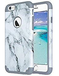 iPhone 6S Case,iPhone 6 Case Marble, ULAK Slim Dual Layer Soft Silicone & Hard Back Cover Bumper Protective Shock-Absorption & Skid-proof Anti-Scratch Hybrid Case-marble pattern