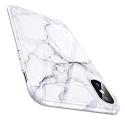 ESR Marble Slim Soft Case for iPhone Xs/iPhone X, Flexible TPU Marble Pattern Cover for Apple iPhone 5.8 inch (2017 & 2018 Release) (White Sierra)