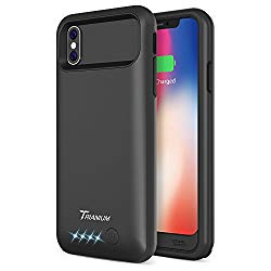 iPhone X Battery Case, Trianium Atomic Pro Battery 4000mAh Portable Charger Compatible with iPhone X 10 [Black] Extended Power Juice Bank [Not Support Wireless Charger/Apple Certified Part]