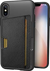 Silk iPhone X/XS Wallet Case – Wallet Slayer Vol. 2 [Slim Protective Kickstand CM4 Q Card Case Grip Cover] – Black Tie Affair