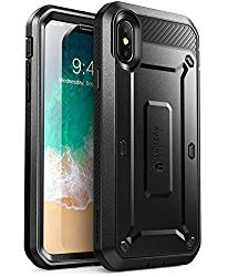 SUPCASE iPhone X, iPhone XS Case, Full-Body Rugged Holster Case with Built-in Screen Protector for Apple iPhone X 2017/ iPhone XS 2018 -Unicorn Beetle PRO Series – Retail Package (Black)