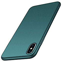 Anccer Colorful Series for iPhone Xs Max Case Ultra-Thin Anti-Drop Premium Material Slim Full Protection Cover for Apple iPhone Xs Max 6.5 inch (Gravel Green)