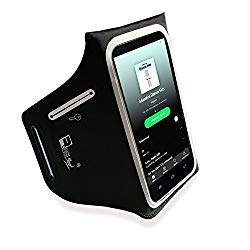iPhone X / 10 Waterproof Running Armband with Extra Pockets for Keys, Cash and Credit Cards. Phone Arm Holder for Sports, Gym Workouts and Exercise (Small – Large Arms)