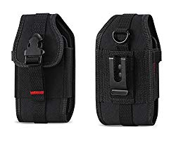 Krofel Pouch Cover Holster Clip for iPhone Xs/XR / X / 8/7 / Samsung Galaxy S9 / S8 / S7 / S6 Active/Sport / Active/Edge / LG G6 / V30 / V35 ThinQ/Motorola Moto E5 Play (Fits with Hard Case)