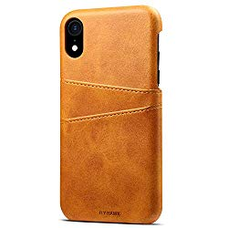 Wallet Case Compatible iPhone XS MAX, Slim PU Leather Back Case Cover, 6.5 inches, Khaki
