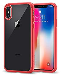 Spigen Ultra Hybrid Designed for Apple iPhone Xs Case (2018) / Designed for Apple iPhone X Case (2017) – Red