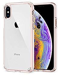 Spigen Ultra Hybrid Designed for Apple iPhone XS Case (2018) / Designed for Apple iPhone X Case (2017) – Rose Crystal