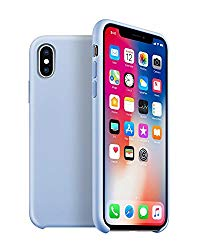 Arrive Silicone Case Compatible 2017/18 iPhone X, XS – Snug Fit – Microfiber Cloth Lining – Wireless Charging Compatible – Retail (Sky Blue)