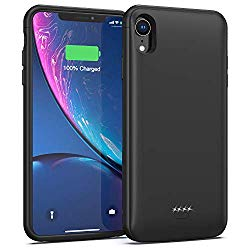 Battery Case for iPhone XR, 5000mAh Portable Charging Case Protective Extended Battery Charger Case Compatible with iPhone XR (Black)