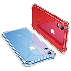 GVIEWIN Clear Case for iPhone XR, Soft & Flexible TPU Ultra-Thin Shockproof 4 Corners Bumper Transparent Back Cover, Cases Drop Protection for iPhone 10R 2018-(6.1 inch) (Clear)
