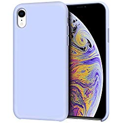 iPhone XR Case, Anuck Anti-slip Liquid Silicone Gel Rubber Bumper Case with Soft Microfiber Lining Cushion Slim Hard Shell Shockproof Protective Case Cover for Apple iPhone XR 6.1″ 2018 – Light Purple