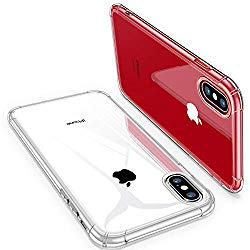iPhone X Case, iPhone Xs Case, CANSHN Clear Case with Soft TPU Bumper [Slim Thin] Protective Case for iPhone X/iPhone Xs 5.8 Inch – Crystal Clear