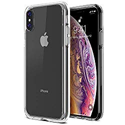 Trianium Clarium Case Designed for Apple iPhone Xs MAX Case (2018 6.5″ Display ONLY) Reinforced Corner TPU Cushion and Hybrid Rigid Clear Back Plate Protection Covers [Enhanced Hand Grip] – Clear