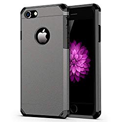 iPhone 7/8 Case, ImpactStrong Heavy Duty Dual Layer Protection Cover Heavy Duty Case for Apple iPhone 7/8 (Gun Metal)