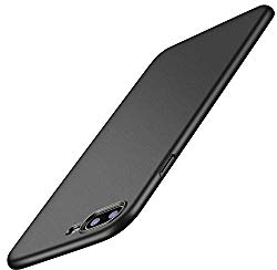 TORRAS Slim Fit iPhone 8 Plus Case/iPhone 7 Plus Case, Hard Plastic PC Ultra Thin Mobile Phone Cover Case with Matte Finish Coating Grip Compatible with iPhone 7 Plus / 8 Plus, Black