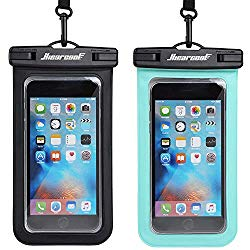 Universal Waterproof Case – Ansot IPX8 Waterproof Phone Pouch – Cellphone Dry Bag for iPhone X/8/ 8plus/7/7plus/6s/6/6s Plus Samsung Galaxy s8/s7 Google Pixel 2 HTC LG Sony Moto up to 7.0″ – 2 Pack