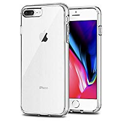 TENOC Case Compatible for Apple iPhone 7 Plus and iPhone 8 Plus 5.5 Inch, Crystal Clear Soft TPU Cover Full Protective Bumper