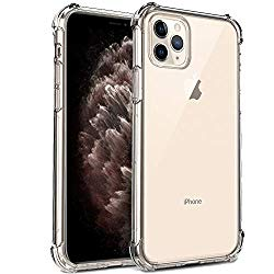RioGree for iPhone 11 Pro Max Case (XI 6.5″ 2019) Clear Silicone TPU Cute Lightweight Shockproof Crystal Flexible Slim Thin for Women Men Girls Boys, Clear