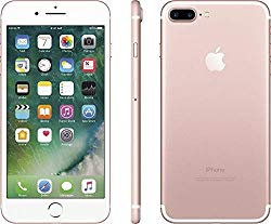 Apple iPhone 7 Plus, 128GB, Rose Gold – Fully Unlocked (Renewed)